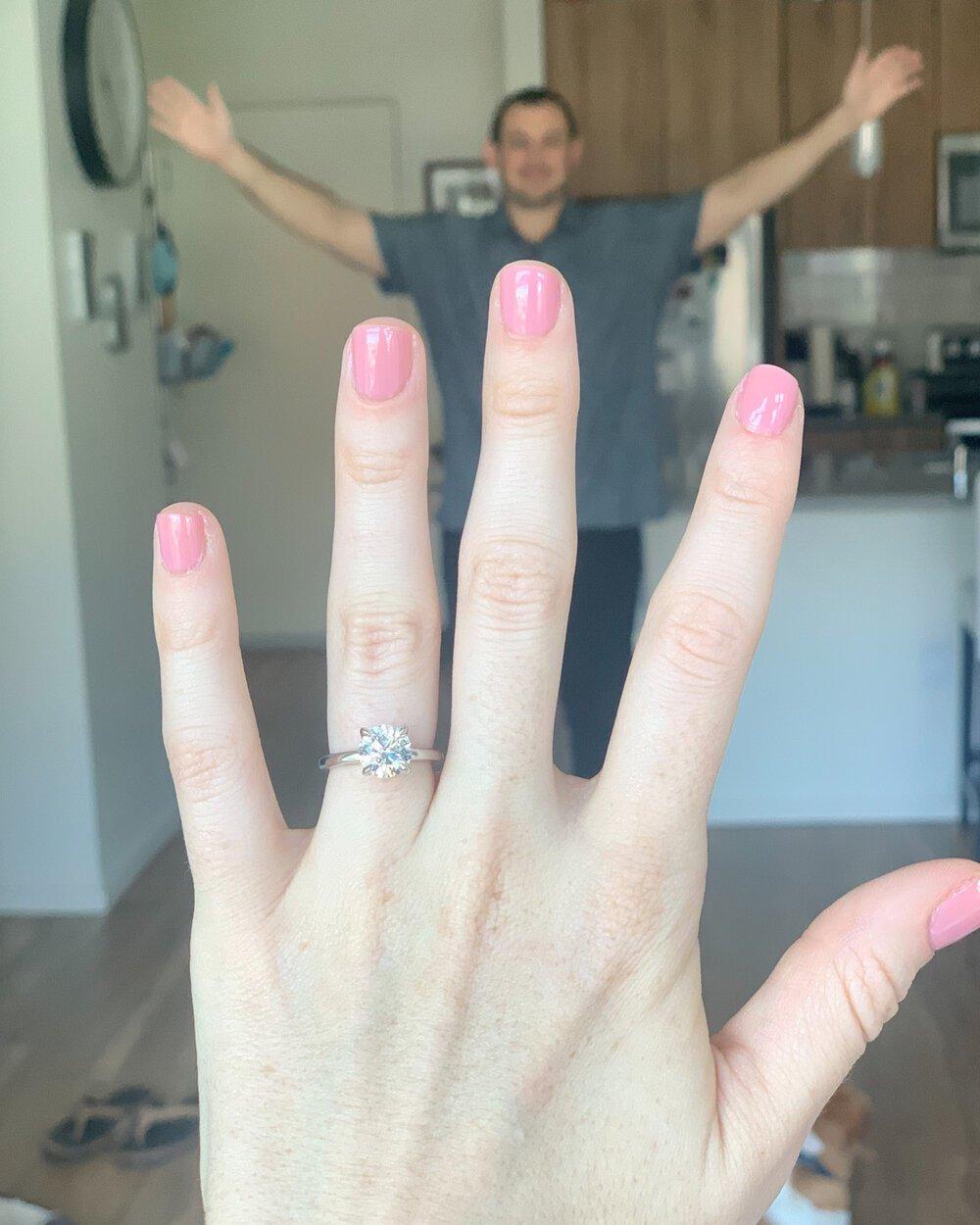 engaged - engagement ring